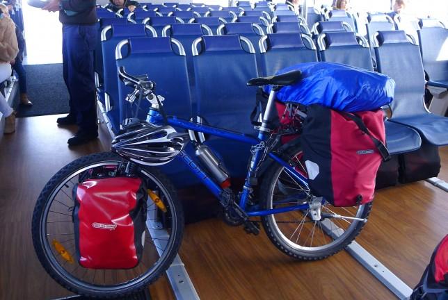 My bike on the ferry